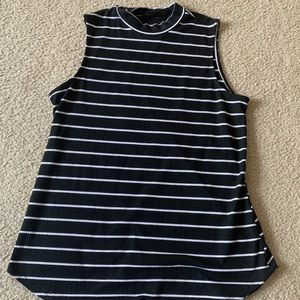 black and white stripped tank top